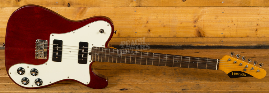 Friedman Vintage T Trans Red White Scratchplate