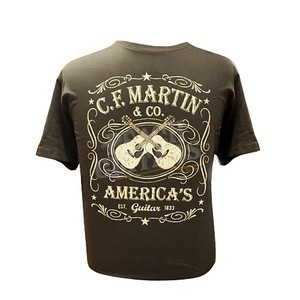 C F Martin Clothing T Shirt Dual Guitar Black