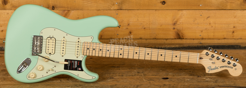 Fender American Performer Stratocaster HSS, Maple Satin Surf Green