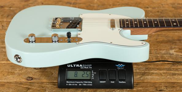 Suhr Classic T Pro Peach LTD - Sonic Blue - Roasted Maple/RW