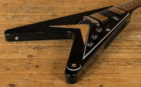 Gibson Custom '59 Flying V Mahogany TV Black Silver