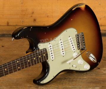 Fender Custom Shop '61 Strat Relic/CC Hardware 3 Tone Sunburst Left Handed