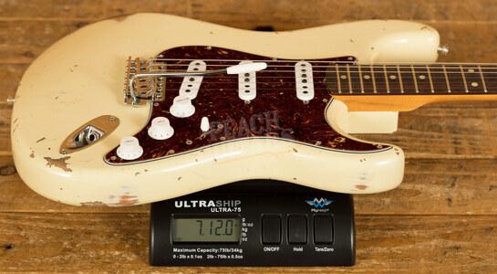 Fender Custom Shop '61 Strat Relic/CC Hardware Vintage White