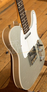 Fender Custom Shop '62 Tele Custom Journeyman Relic Inca Silver