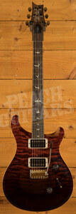 PRS Wood Library Custom 24 Fire Red to Grey Black Fade Roasted Maple /Ziricote