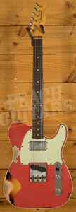 Fender Custom Shop LTD CuNiFe Tele Custom Heavy Relic Aged Fiesta Red over 3TSB