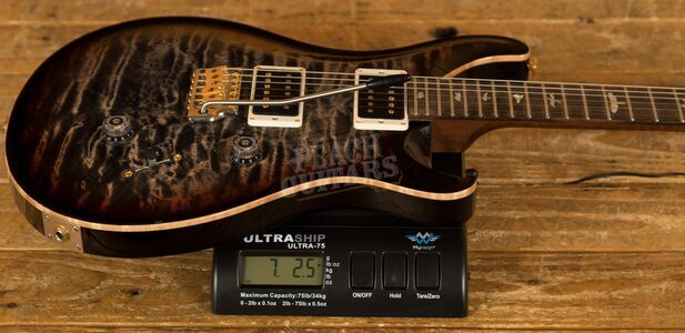 PRS Wood Library Custom 24 Charcoal Tri-Colour Burst Roasted Maple /Ziricote