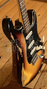 Fender Custom Shop '60 Strat HSS Heavy Relic Rosewood 3 Tone Sunburst