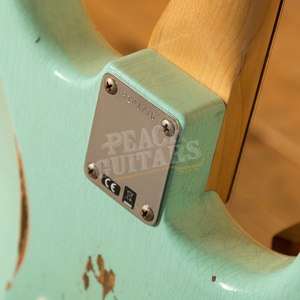 Fender Custom Shop '60 Strat Relic Left Handed Rosewood Sea Foam Green