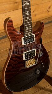 PRS Wood Library Custom 24 Fire Red to Grey Black Fade Roasted Maple/Ziricote