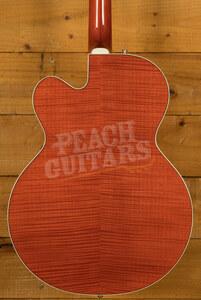 Gretsch G6120TFM Brian Setzer Nashville Orange Flame Maple
