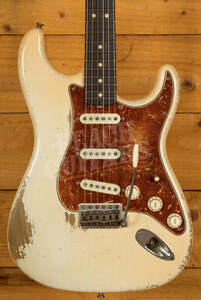 Fender Custom Shop '64 Strat Relic Olympic White Dale Wilson