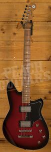 Reverend Descent RA - Metallic Red Burst