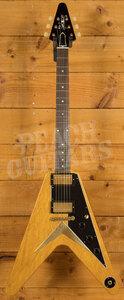 Gibson Custom Shop 1958 Korina Flying V Black Pickguard VOS Historic Collection