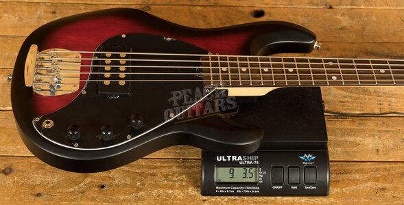 Music Man Sterling Sub Ray 5 Bass - Ruby Red Burst