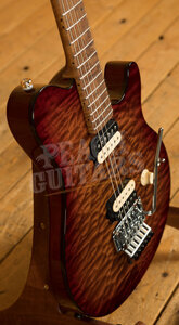 Music Man Axis Roasted Amber Quilt Roasted Maple neck