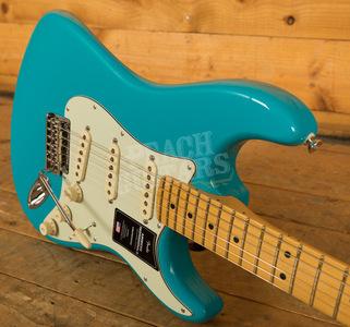 Fender American Professional II Stratocaster Miami Blue Maple