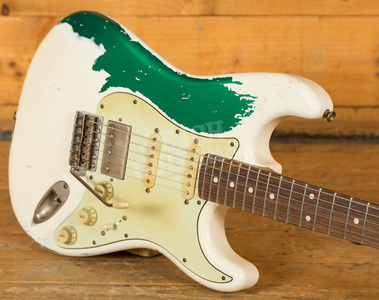 Xotic XSC-2 Super Heavy Aged V/Wht over Candy Green
