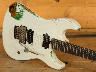 Friedman Cali Vintage White/Candy Green/3 Tone Sunburst