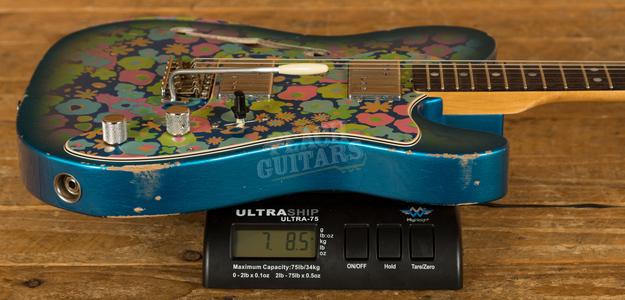 Fender Custom Shop 2020 Limited '72 Thinline Aged Blue Flower