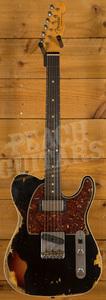 Fender Custom Shop 2020 LTD Tele Custom HS Black over 3 Tone Sunburst