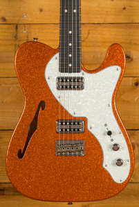 Fender Custom Shop 50s Tele Thinline NOS Orange Sparkle