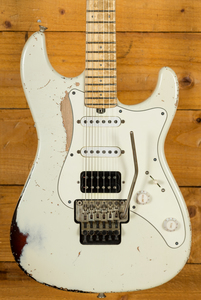 Friedman Vintage S with Floyd -  Vintage White over 3-Tone Sunburst