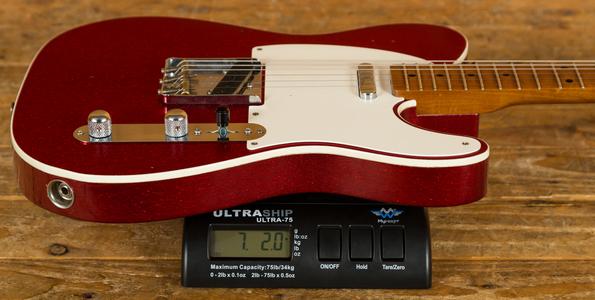 Fender Custom Shop '52 Tele Relic Roasted Maple Neck Red Sparkle
