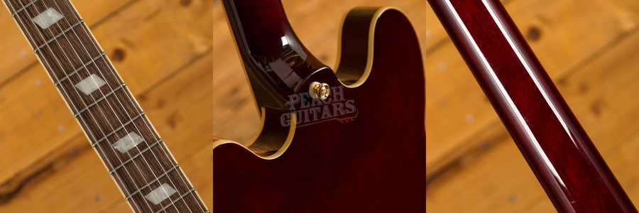 Epiphone Riviera Custom P93 in Wine Red with Bigsby