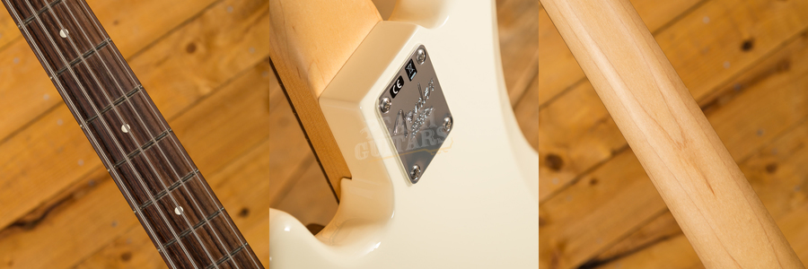 Fender American P Bass V Rosewood Olympic White