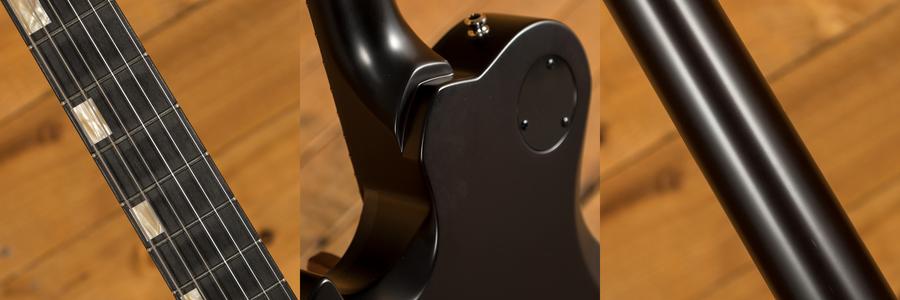 Knaggs Steve Stevens SSC in Charcoal Burst with Onyx Binding
