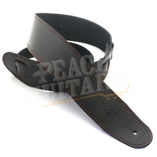 "DSL SGE25-15-2 Leather 2.5"" Black with Brown Stitching"