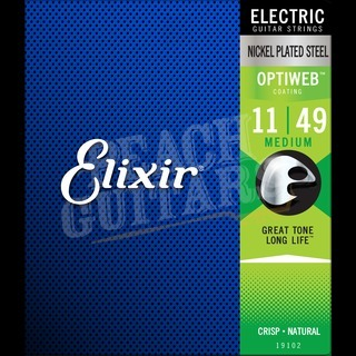 Elixir Electric Optiweb Strings - 11-49 (Medium)