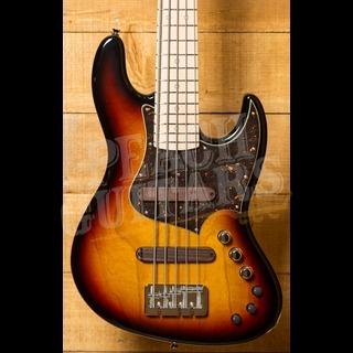 Xotic XJ-1T Lightweight 5-string Bass 3 Tone Burst Maple Neck