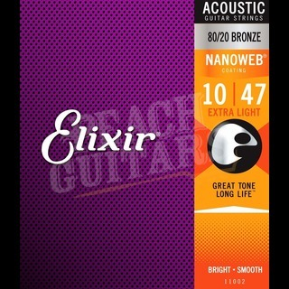 Elixir Acoustic 80/20 Bronze Nanoweb Strings