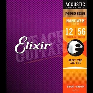 Elixir Acoustic Phosphor Bronze Nanoweb Strings - 12-56 (Medium light)