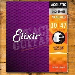 Elixir Acoustic Nanoweb 80/20 Bronze Medium 13-56