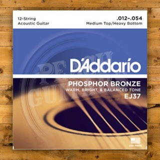 D'Addario EJ37 12 string Medium top/Heavy bottom