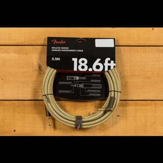 Fender Deluxe 18.6ft Angle/Straight Instrument Cable Tweed