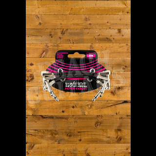 Ernie Ball 3 Inch Flat Ribbon Patch Cable - 3 Pack