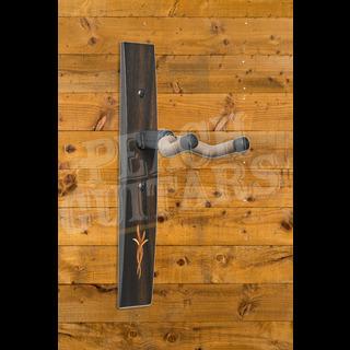 Taylor Guitar Hanger,Ebony,Bouquet Myrtlewood/Boxwood Inlay