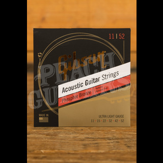 Gibson Phosphor Bronze Acoustic Guitar Strings Ultra Light