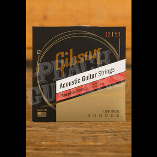 Gibson Phosphor Bronze Acoustic Guitar Strings Light