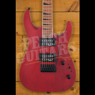 Jackson JS Series Dinky Arch Top JS24 DKAM, Caramelized Maple Fingerboard, Red Stain