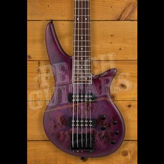 Jackson X Series Spectra Bass SBXP V, Laurel Fingerboard, Transparent Purple Burst