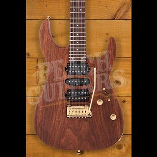 Charvel MJ DK24 HSH 2PT E Mahogany with Figured Walnut, Streaky Ebony Fingerboard, Natural