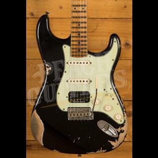 Fender Custom Shop '58 Strat HSS Heavy Relic Black