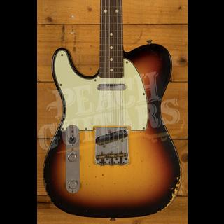 Fender Custom Shop '60 Tele Relic 3 Tone Sunburst Left Handed