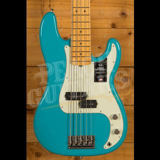 Fender American Professional II Precision Bass V Miami Blue Maple