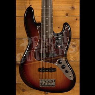 Fender American Professional II Jazz Bass V 3-Color Sunburst Rosewood